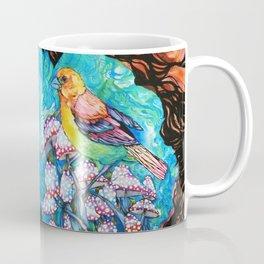 birds and mushrooms Coffee Mug