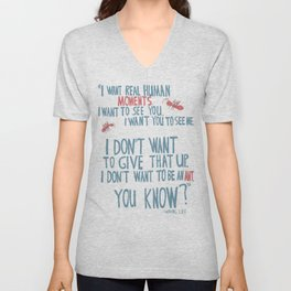 Waking Life - I don't want to be an ant Unisex V-Neck