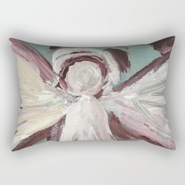 Impressionistic Angel #2 Maroon & Ivory Rectangular Pillow