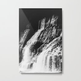 Forest Waterfall Metal Print