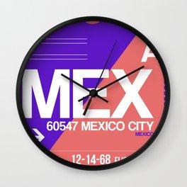 MEX Mexico City Luggage Tag 1 Wall Clock