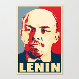 Lenin Propaganda Art Canvas Print