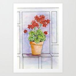 The Pot Geranium Art Print