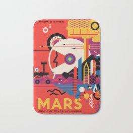 Retro Mars Vacation Ad from NASA Bath Mat