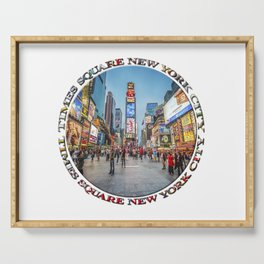 Times Square Sparkle (badge on white) Serving Tray