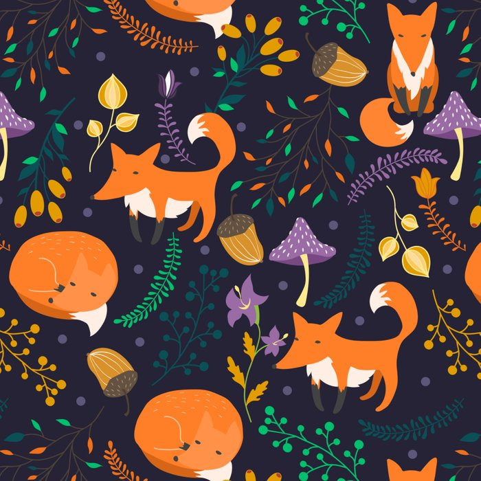 Foxes in magic forest Leggings