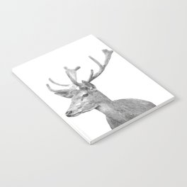 Black and white deer animal portrait Notebook