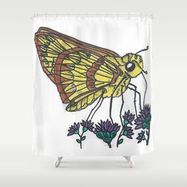 Fiery Skipper Shower Curtain