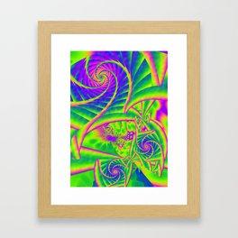 Dingle Berries Psychedelic Fractal Framed Art Print