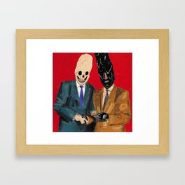 Presentation of the budget ham slice for lifetime services to Hell. 2015.  Framed Art Print