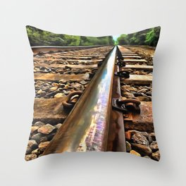 Down The Line Throw Pillow