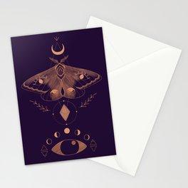 Metaphys Moth - Purple Stationery Cards