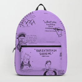 Gilmore Girls Quotes in Purple Backpack