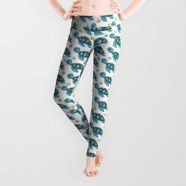 Cute Turquoise Sea Turtle Leggings