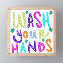 Wash Your Hands Design by Jelene Framed Mini Art Print