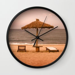 Beach front property Wall Clock