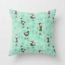 Seagulls in jumper Throw Pillow