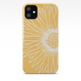 Minimalist Sunflower iPhone Case
