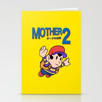 earthbound Stationery Cards featuring Mother 2 / Earthbound / Super Mario Bros. 3 Style by Studio Momo╰༼ ಠ益ಠ ༽