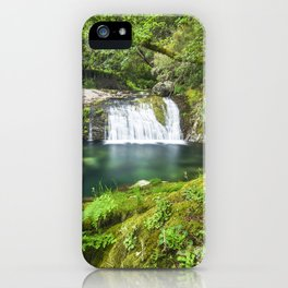 A magic lake deep in the woods iPhone Case