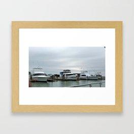 Day at the Harbor Framed Art Print