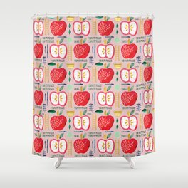 Apple Orchard Pattern Shower Curtain