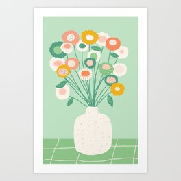 Morning flowers Art Print