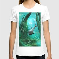 swimming T-shirts featuring Swimming dolphin by nicky2342
