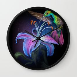 The Stargazer and The Hummingbird Wall Clock