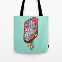 icecream Tote Bags featuring Icecream pop by makapa