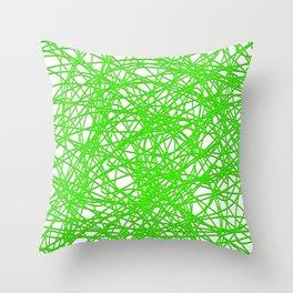 Green Lines Throw Pillow