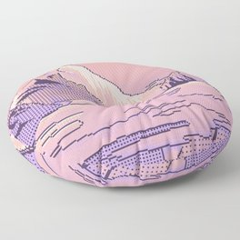 Peach Sunset Floor Pillow