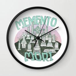 Memento Mori Graveyard Wall Clock