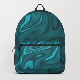 Ripples Fractal in Ocean Blue Backpack