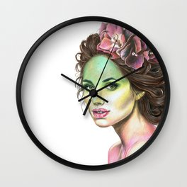 Flowers in Her Hair Wall Clock