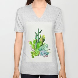 Cactus Garden II Unisex V-Neck