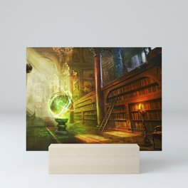 Magical Graceful Old Antique Library Witchcraft Sorcerer Globe Ultra HD Mini Art Print