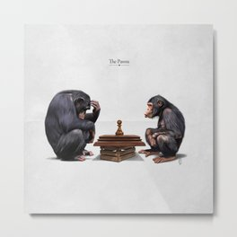 The Pawns (Titled) Metal Print