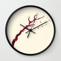 sakura Wall Clocks featuring Sakura by AnishaCreations