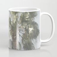 palm tree Mugs featuring Palm Tree by Pure Nature Photos