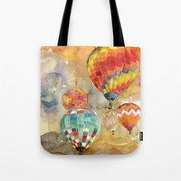 balloons Tote Bags featuring Balloons by takmaj