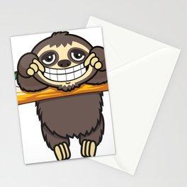 Happy Sloth Stationery Cards