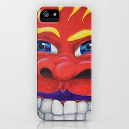 Red Face. iPhone Case