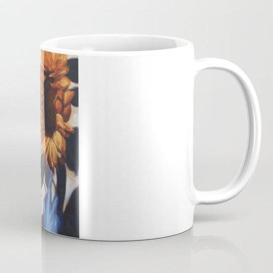 Optimus Prime With Sunflower Mug