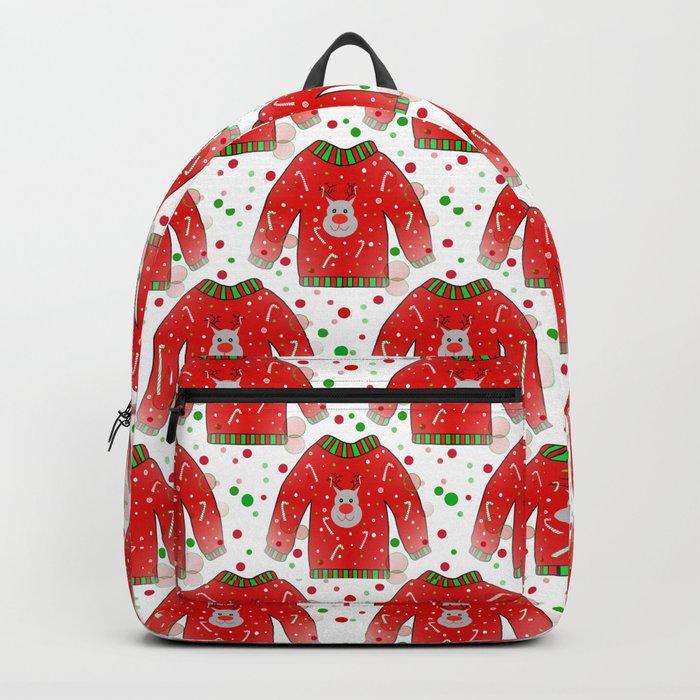 Ugly Christmas Sweater Backpack