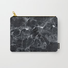 Black marble texture Carry-All Pouch