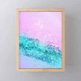 Summer Unicorn Girls Glitter #1 #shiny #decor #art #society6 Framed Mini Art Print