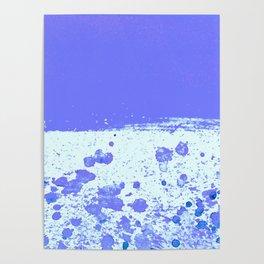 Ink Drop Blue Poster