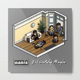 Oasis: Definitely Maybe - Isometric Pixel Art Metal Print