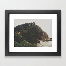 ocean cliff Framed Art Print